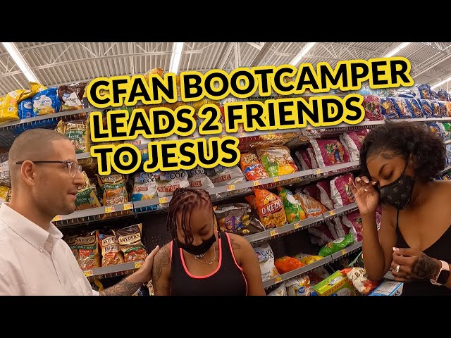 CfaN Bootcamper Leads 2 Friends to the Lord on Jesus at the Door Training