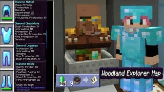 GOD Armor and Obtaining a Woodland Mansion Map - Minecraft Lets Play Ep 50