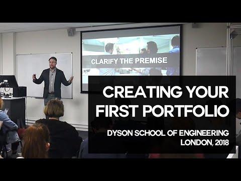 Creating Your First Design Portfolio + Q&A   Nick Chubb   Dyson School of Design Engineering 2018