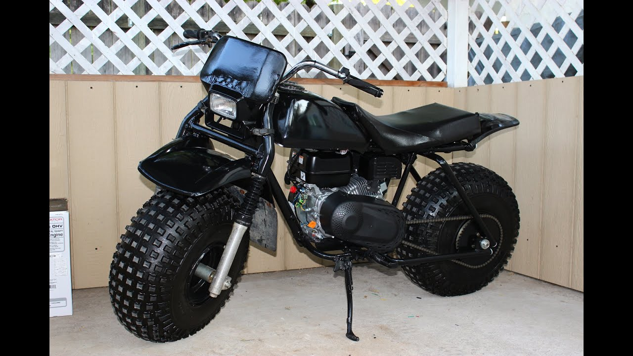 Monster Minibike With Balloon Tires 3 Wheeler Conversion