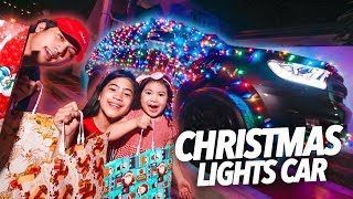 Download Video WRAPPING OUR CAR WITH CHRISTMAS LIGHTS!!   Ranz and Niana MP3 3GP MP4