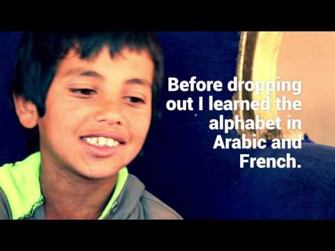 Syrian refugee children in Lebanon: Faysal