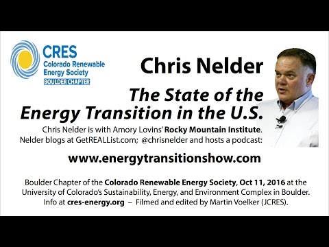 The State of the US Energy Transition - Chris Nelder