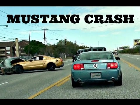 Mustang GT Slams Into Honda Car Crash *HD*