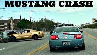 Mustang GT Slams Into Honda Car Crash *HD*
