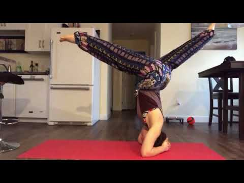 headstand practice  youtube