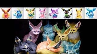 All Eeveelutions Drawing - (Cute Version) with Watercolor Pencils