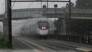 The Northeast Corridor in an Absolute Downpour! PRR E8