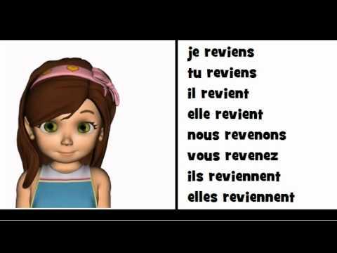 La Grammaire En Chanson Le Verbe Revenir Youtube
