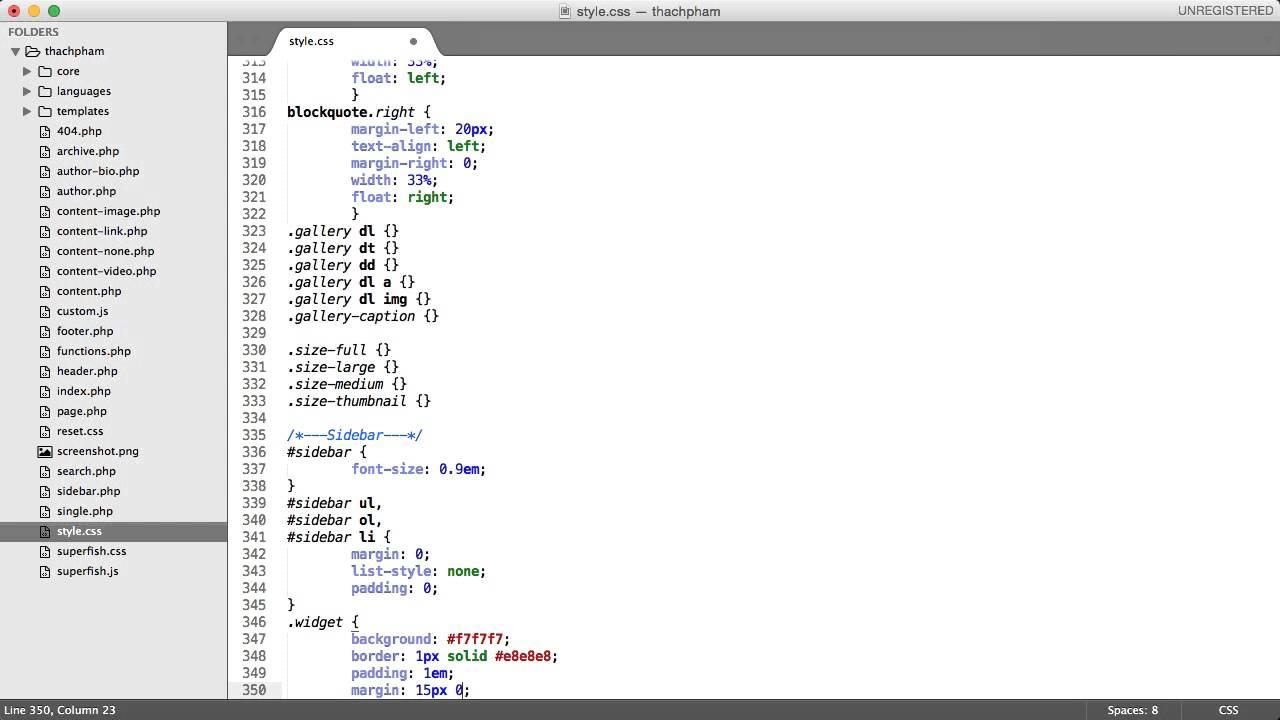 [Lập trình theme WordPress - 18] Viết CSS cho theme phần cuối