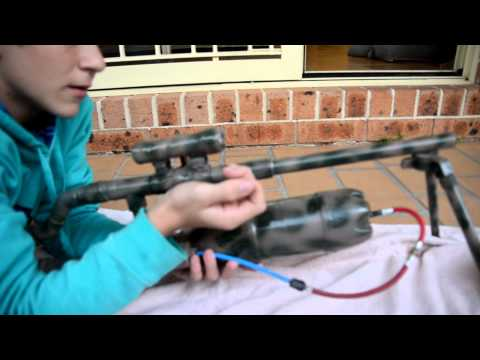 Shooting my homemade paintball gun