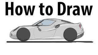 How to draw an Alfa Romeo 4C - Sketch it quick!