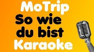 MoTrip - So wie du bist - Karaoke