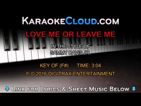 Sammy Davis, Jr. - Love Me Or Leave Me (Backing Track)