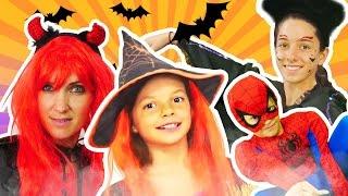 Хэллоуин! Детское видео. Хэллоуин костюм для Маши Капуки Кануки от маленькой ведьмы Кати.