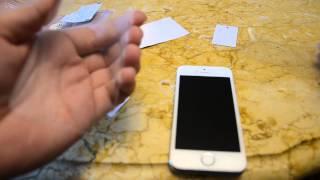 Installation écran en verre trempé sur un Iphone