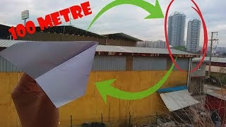 Kağıttan Boomerang Uçak Yapımı / How to make paper airplane