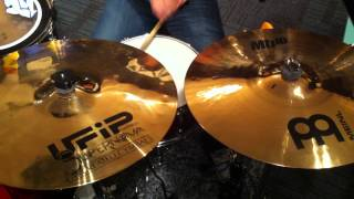 UFIP Supernova 16 Crash and Meinl MB10 16 Crash at Drumstore Malaysia