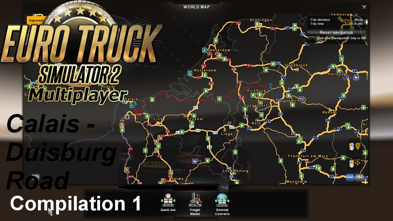 euro truck simulator 2 multiplayer calais to duisburg road compiltion 1 youtube. Black Bedroom Furniture Sets. Home Design Ideas