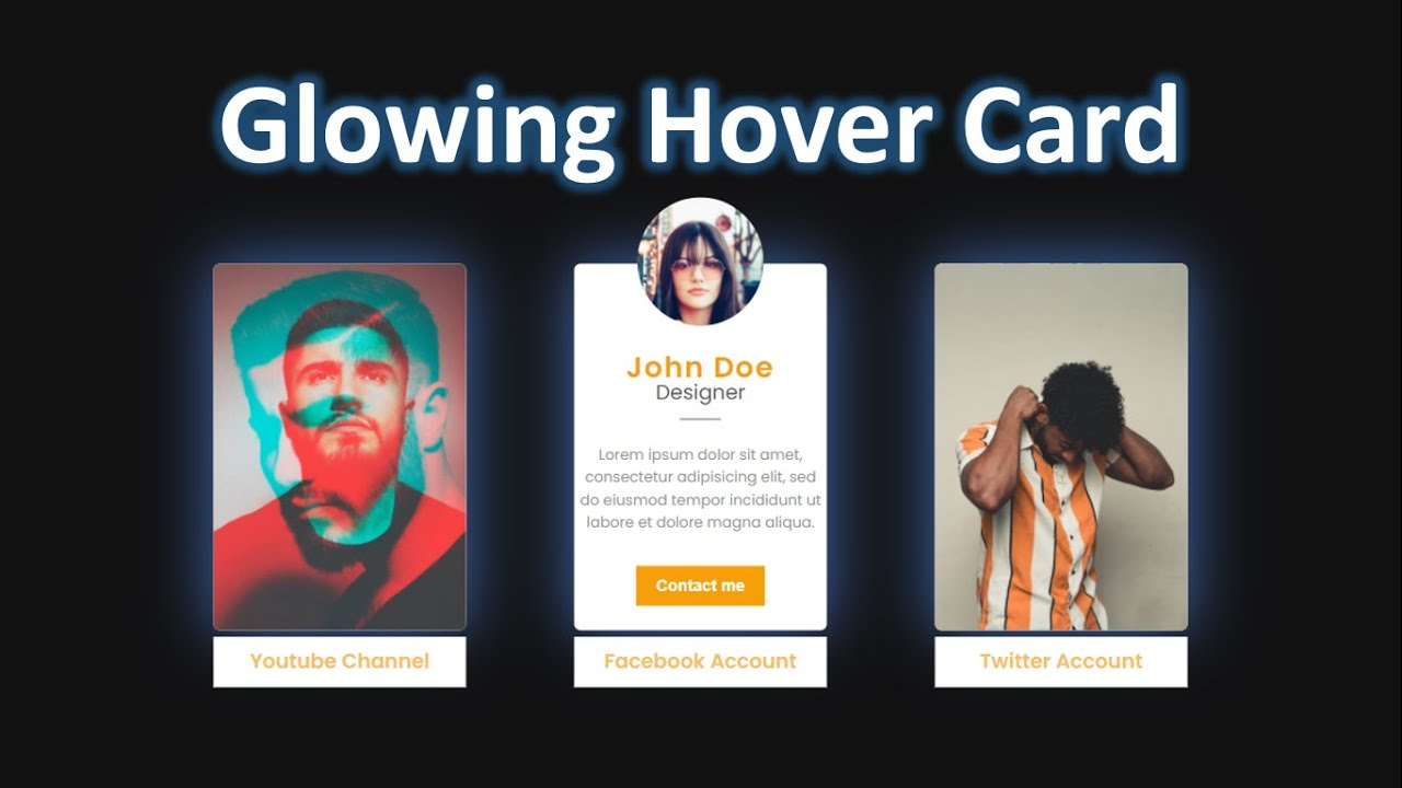 Design CSS Card Hover Effect