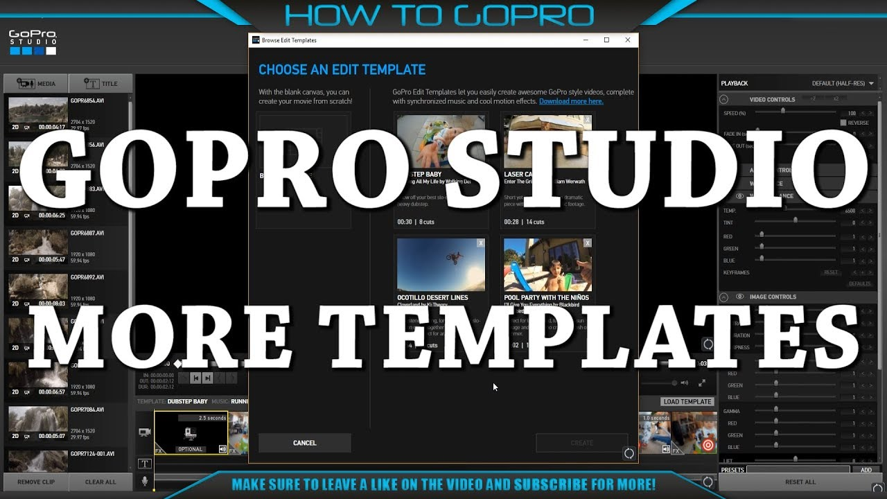 More Templates for GoPro Studio - YouTube