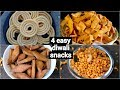 Download 4 easy & instant diwali snacks recipes | quick deepavali snacks recipes collection