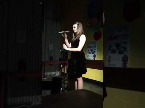 Amanda Barry singing On My Own from Les Mis