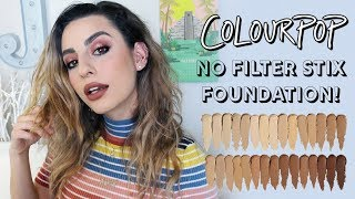 Colourpop No Filter Stix Foundation: Wear Test and First Impressions!