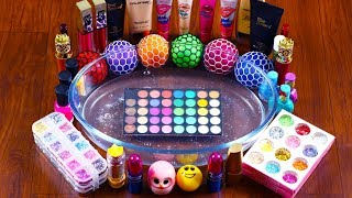 Download Mixing Makeup And Stress Balls Into Clear Slime!! Relaxing & Satisfying Slime Smoothie Video!! Mp3 and Videos