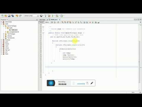 Shorting Array Numbers Java; Bubbleshort Algorithm, Java Tutorial