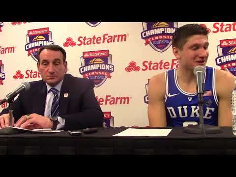 Mike Krzyzewski & Grayson Allen After Beating MSU.