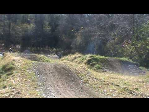 7 year old on ktm 250 two stroke
