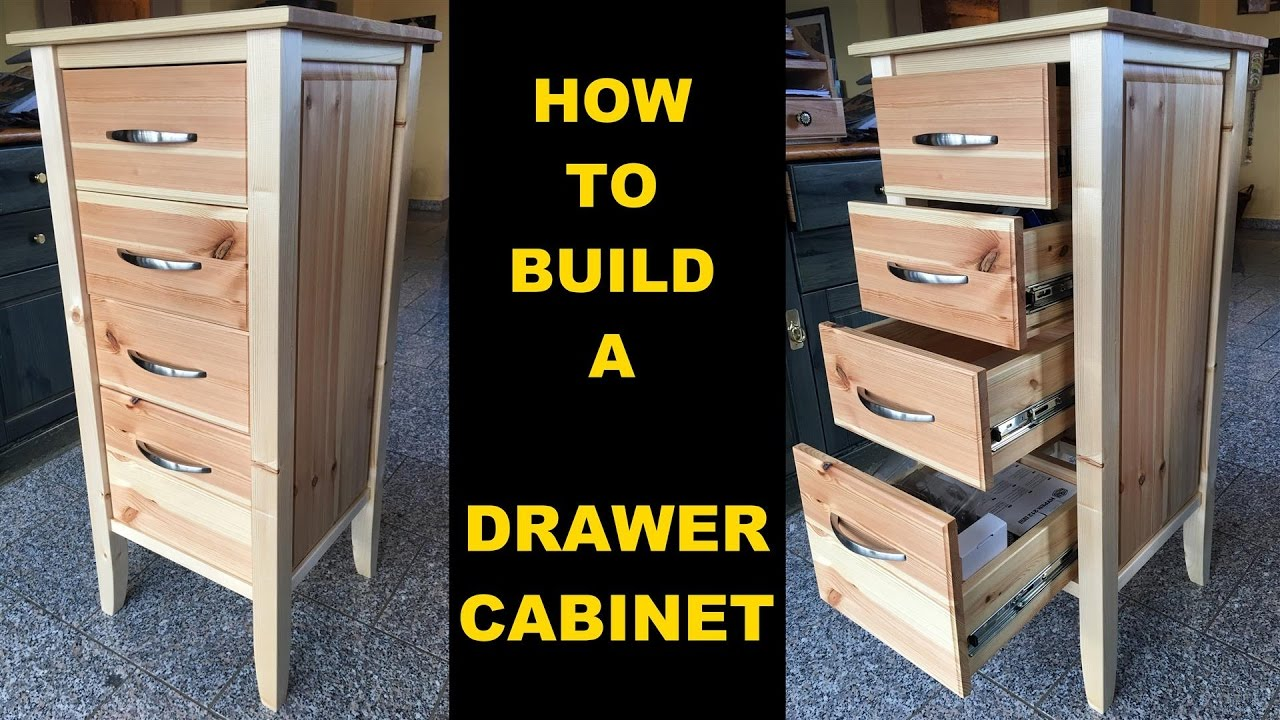 How To Build A Precious Wooden Drawer Cabinet Using Frame