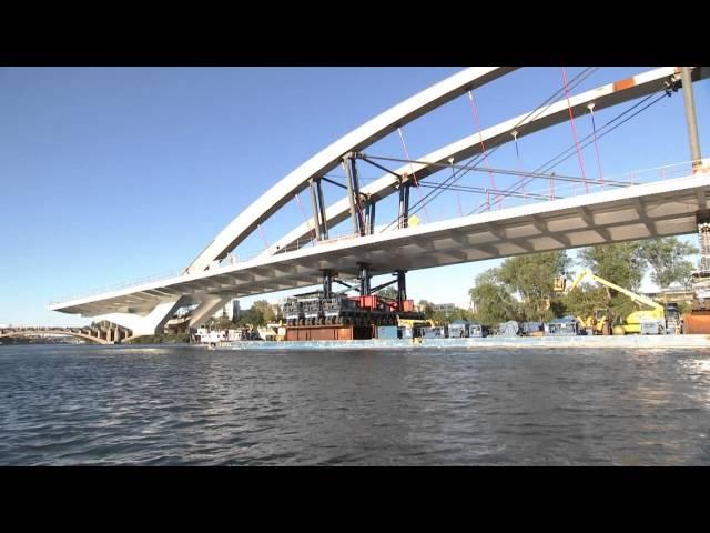 ככה מניחים כיום גשר על נהר