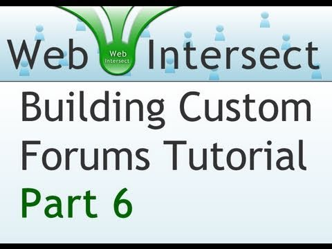 6. Web Intersect Forum Tutorial : Parsing the forum posts with PHP scripting