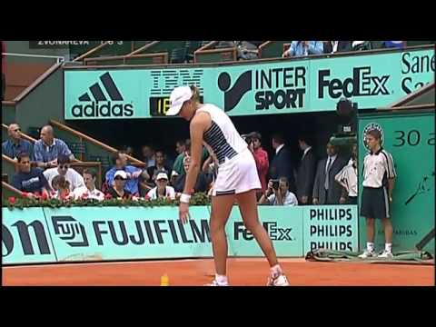 Nadia Petrova vs Vera Zvonareva 2003 RG Highlights