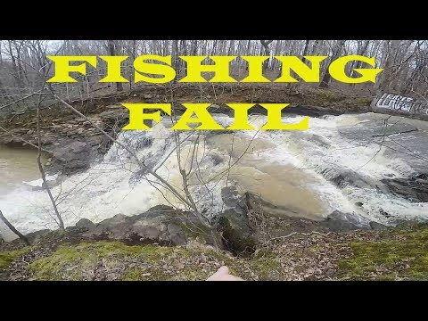 FISHING FAIL!! | Spillway Fishing ends in DISASTER! March 2018