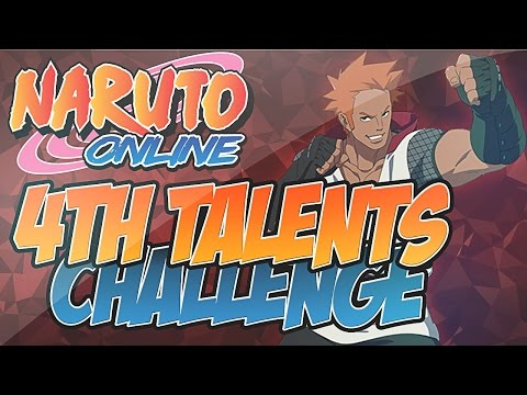Naruto Online | Changing to Crimson Fist , All 4th Main Talents Challenge