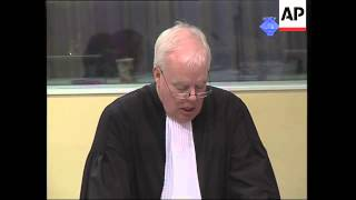 +4:3 BOSNIAN SERB MILITARY CHIEF RATKO MLADIC'S GENOCIDE TRIAL