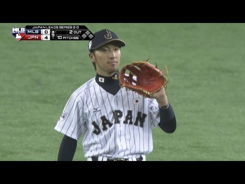 MLB@JPN: Kikuchi's defense preserves no-hitter in 9th