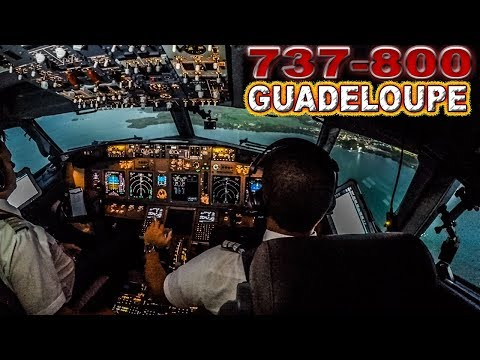 Piloting the Norwegian 737 into Guadeloupe