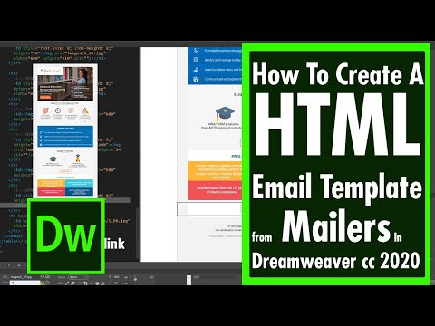 How To Create A HTML Email Template from Mailers in Dreamweaver cc 2020