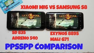 How POWERFUL is Xiaomi Mi6 Smartphone? (quick comparison with Samsung S8 Exynos) PPSSPP gaming GOW