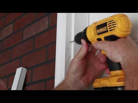 Metal Hinged Screen Door with EZ Adjust System Installation