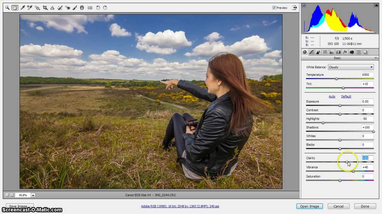 Camera Raw 7.4 & CS6 Retouch of dull coloured photo tutorial - YouTube
