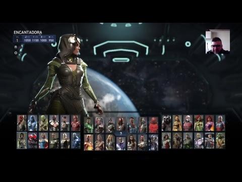 Injustice 2 Edicion Legendaria ,mostrando  los 10 personajes nuevos