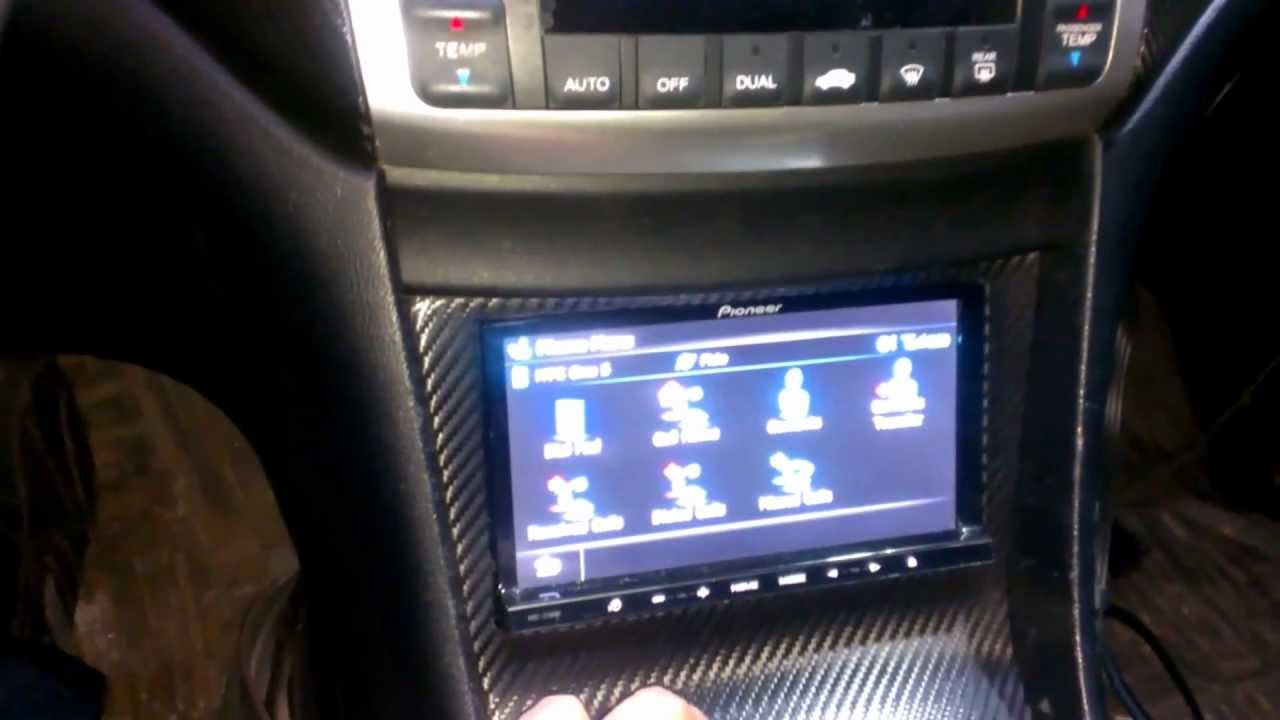 pioneer z140bh double din deck in 2004 tsx - YouTube
