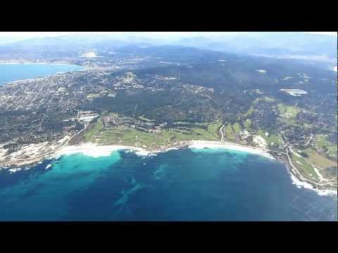Flying over Monterey, Pacific Grove, Pebble Beach & Carmel