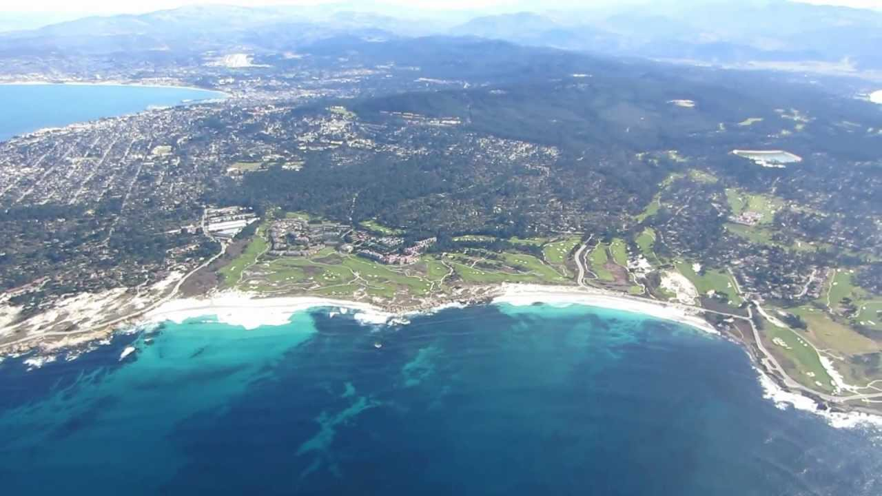 Flying Over Monterey Pacific Grove Pebble Beach Carmel