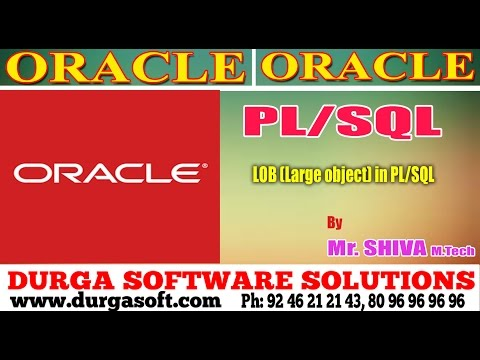 Oracle  || LOB Large object in PL/SQL by Shiva
